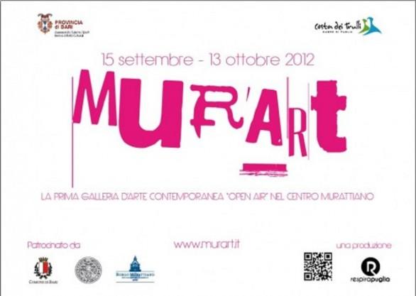 Murart dal 15 settembre al 13 ottobre a Bari