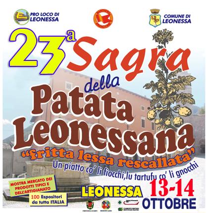 Sagra della Patata: il 13 e 14 ottobre a Leonessa