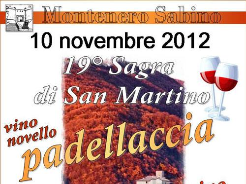 """Il 10 novembre la """"Sagra di San Martino"""" a Montenero Sabino"""
