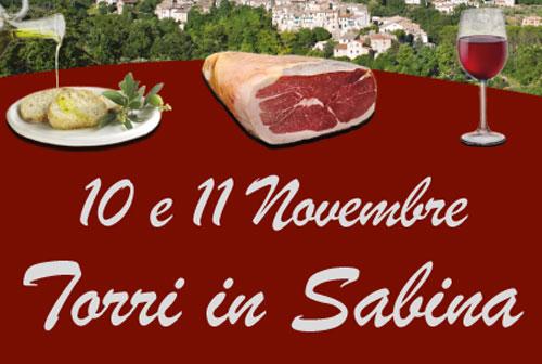 A Torri in Sabina la Sagra del prosciutto, dell'olio e del vino novello