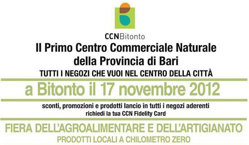 Bitonto, Centro Commerciale Naturale sabato 17 novembre spazio all'agroalimentare
