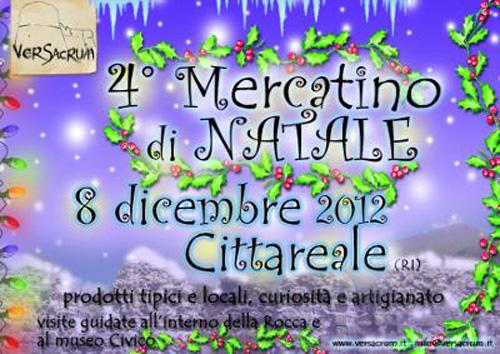 L'8 dicembre il mercatino di Natale a Cittareale