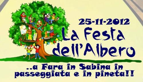 Festa dell'Albero a Fara in Sabina il 25 novembre