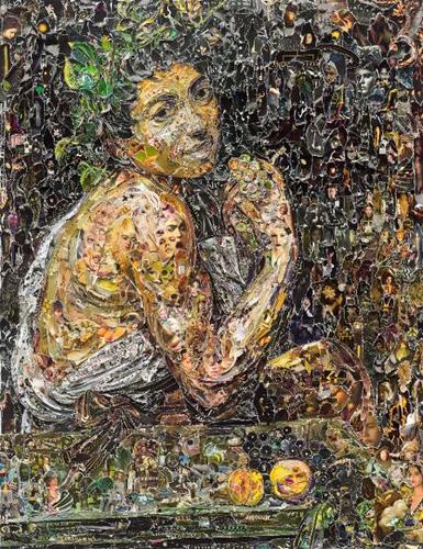 Una delle opere in mostra a Frascati