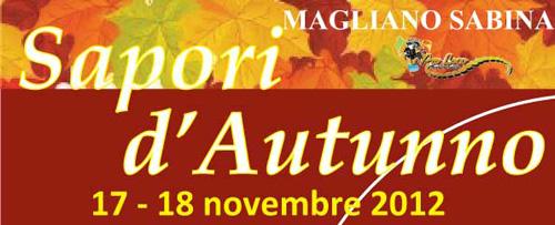"""""""Sapori d'Autunno"""" Magliano Sabina il 17 e 18 novembre"""