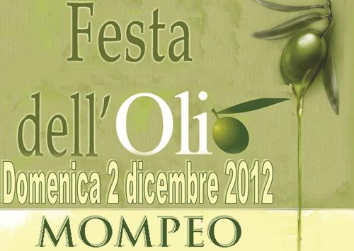 """Il 2 dicembre """"Festa dell'Olio nuovo"""" a Mompeo"""