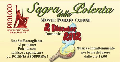Domenica prima edizione della festa della polenta
