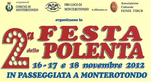 Festa della Polenta a Monterotondo dal 16 al 18 novembre