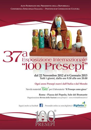 100 presepi in mostra a Roma