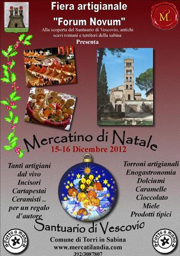 Il 15 e 16 dicembre Mercatino di Natale a Torri in Sabina
