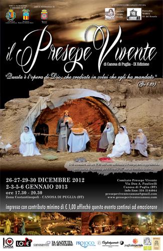 La locandina dell'edizione 2013 del Presepe Vivente di Canosa di Puglia