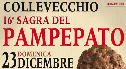 Domenica 23 dicembre sagra del pampepato a Collevecchio