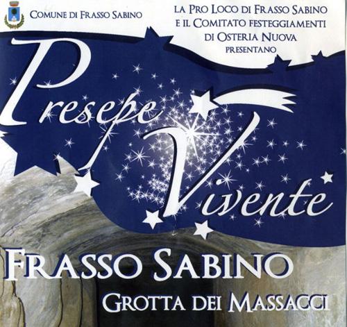 """Presepe vivente presso la """"Grotta dei Massacci"""" di Frasso Sabino"""