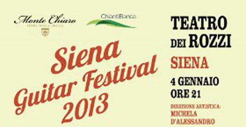 Dal 4 gennaio il Siena Guitar Festival