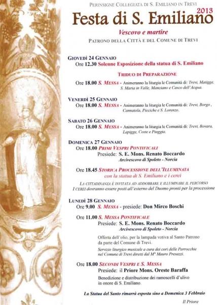 Il programma della Festa di Sant'Emiliano