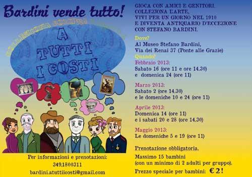 Incontri gioco al Museo Stefano Bardini di Firenze