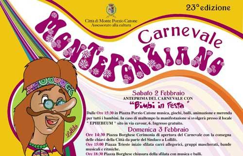 Dal 2 febbraio la 23sima edizione del Carnevale di Monte Porzio Catone