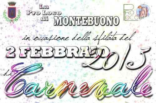 Il 2 febbraio il Carnevale a Montebuono
