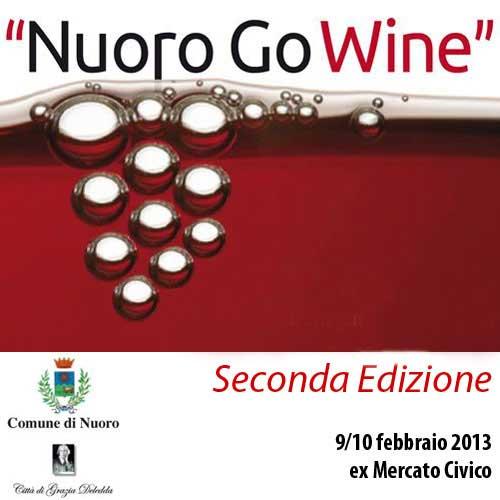 La locandina di Nuoro Go Wine che si terrà il 9 e 10 febbraio