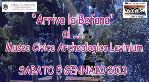 Pomezia, il 5 gennaio arriva la Befana al Museo