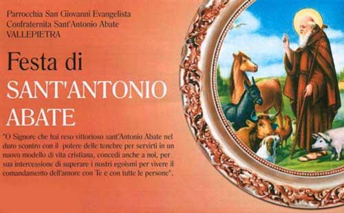 Sabato 19 e domenica 20 gennaio la Festa di Sant'Antonio Abate a Vallepietra