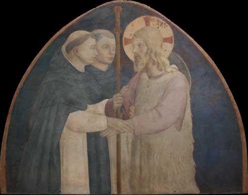 Firenze. Museo di San Marco: visibili le due lunette dell'Angelico