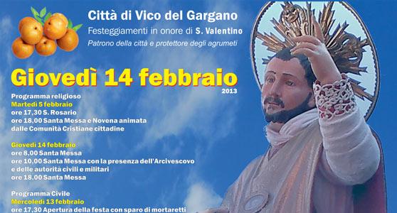 Vico del Gargano: al via la Settimana Valentiniana