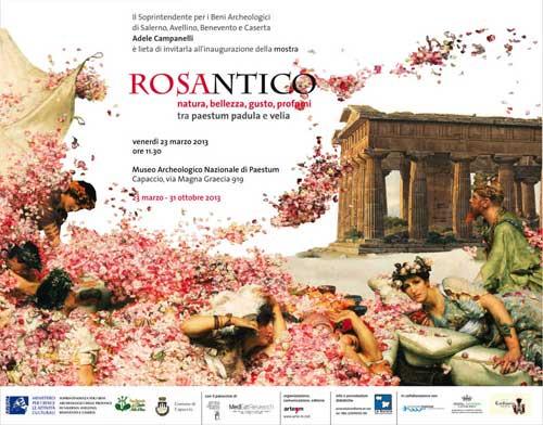 """Provincia di Salerno, dal 23 marzo la mostra """"Rosantico"""" tra Paestum, Padula e Velia"""