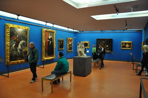 La sala blu degli Uffizi di Firenze