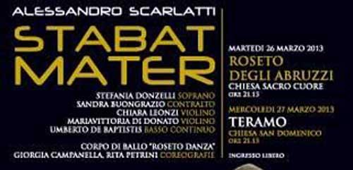 A Roseto degli Abruzzi il 26 marzo lo Stabat Mater
