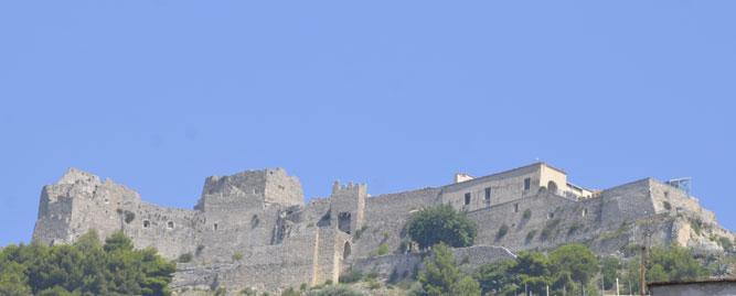 Una veduta del Castello Arechi a Salerno