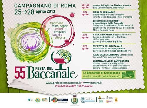 Campagnano Romano, dal 25 aprile la festa del Baccanale