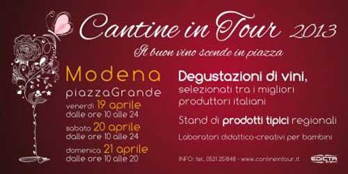 Cantine in tour 2013: il buon vino in Piazza Grande a Modena