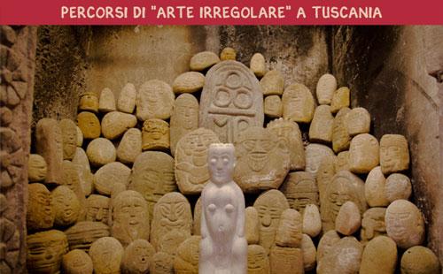 Tuscania l'11 e il 12 maggio percorsi di Arte Irregolare