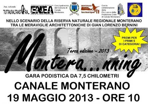 """Canale Monterano, al via la III edizione di """"Montera…nning"""""""