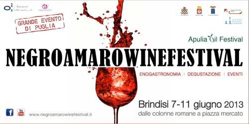 Brindisi dal 7 giugno il Negroamaro Wine Festival