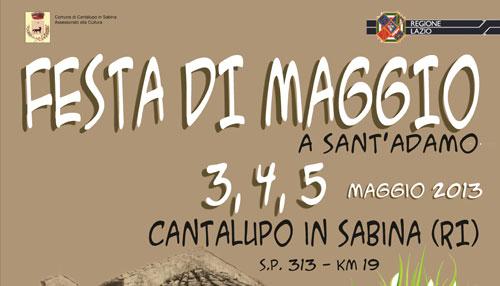 Cantalupo in Sabina, dal 3 al 5 maggio la Festa a Sant'Adamo