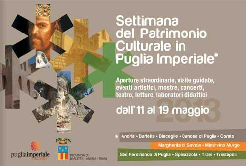 Settimana del Patrimonio in Puglia Imperiale gli eventi a Corato
