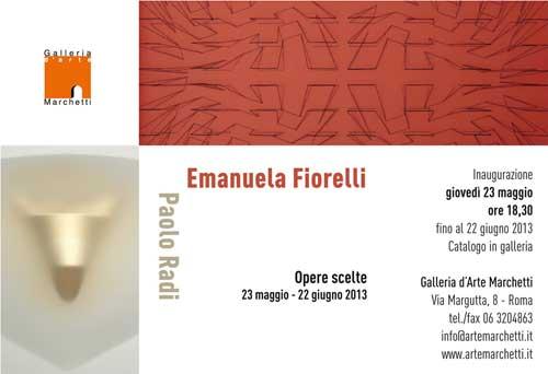 Opere scelte di Fiorelli e Radi in mostra a Roma