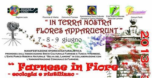 Tuscia. Dal 7 giugno Farnese in Fiore