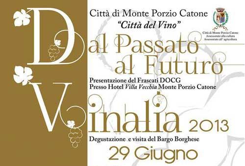 Vinalia 2013, il 29 giugno a Monte Porzio Catone