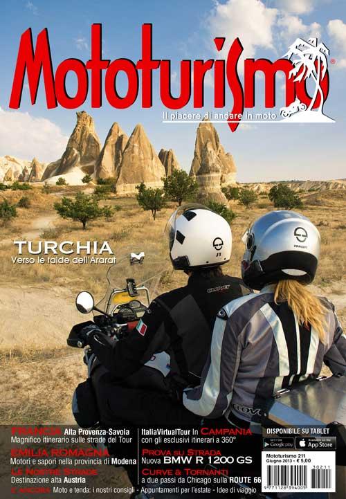 La copertina di Mototurismo di giugno