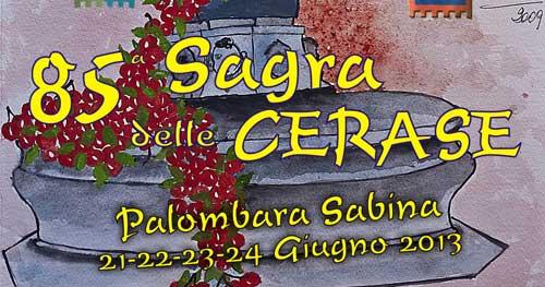 Palombara, dal 21 al 24 giugno la Sagra delle Cerase