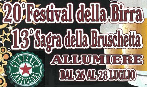 Allumiere, dal 26 luglio il Festival della Birra