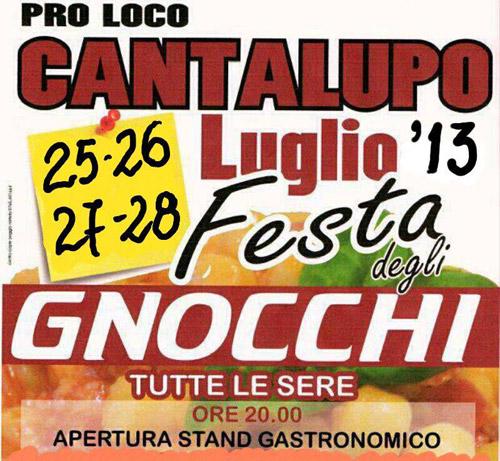 Festa degli Gnocchi a Cantalupo in Sabina