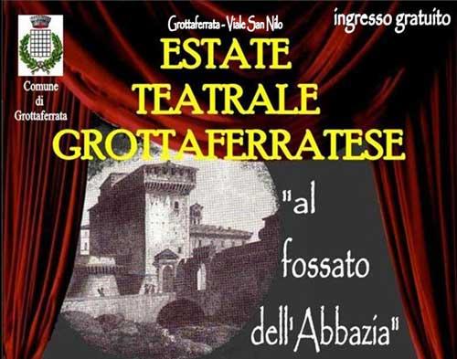 """A Grottaferrata inizia l'Estate Teatrale al """"fossato dell'Abbazia"""""""