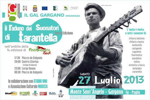 Gargano. Il 27 luglio il raduno dei Suonatori di Tarantella