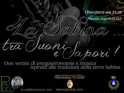Montebuono, il 20 e 21 luglio La Sabina tra Suoni e Sapori
