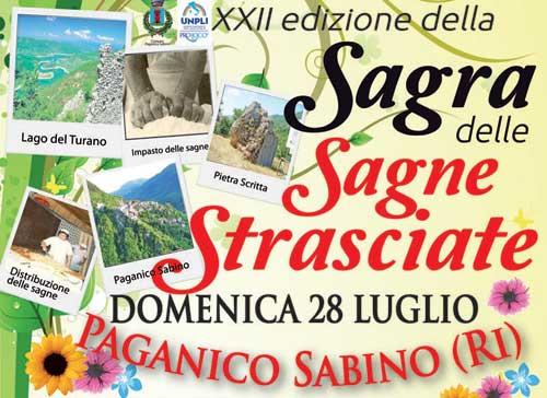Paganico Sabino, il 28 luglio la Sagra delle Sagne Strasciate