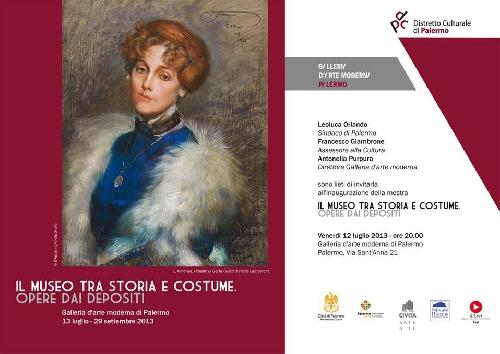 """A Palermo la Mostra """"Il Museo tra storia e costume"""" fino al 22 settembre 2013"""